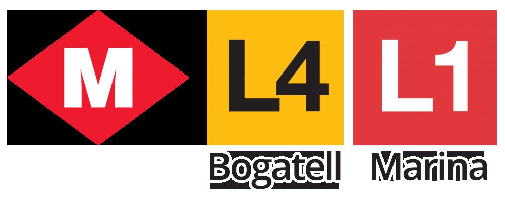 Metro Barcelona L4 Bogatell L1 Marina