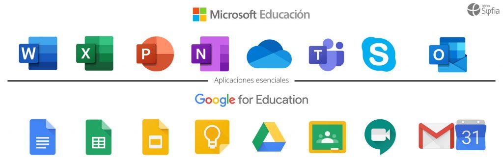 Aplicaciones G Suite vs Microsoft 365