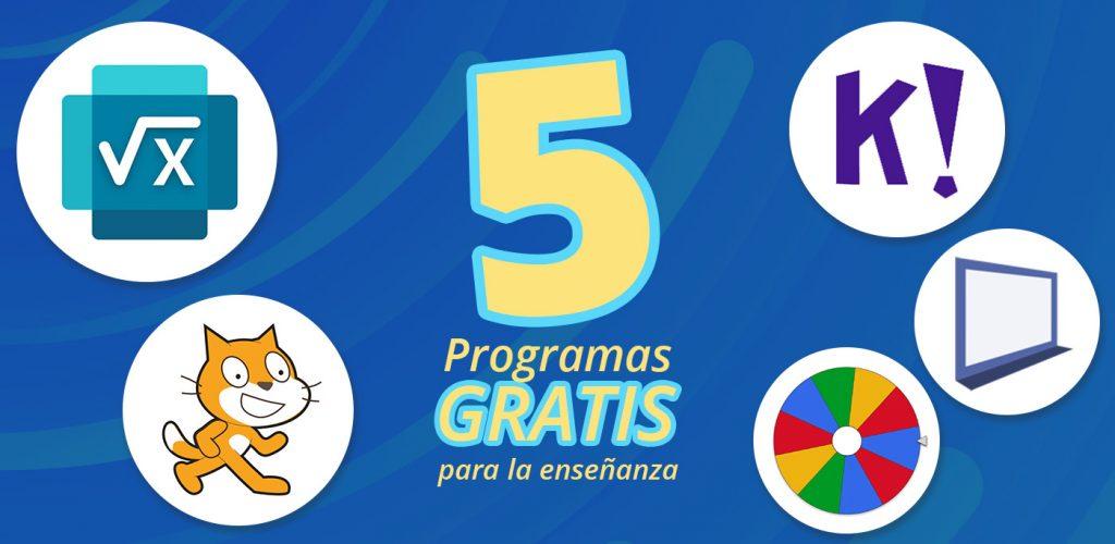 5 programas gratuitos educación